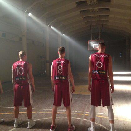 Basketbool team of Latvia